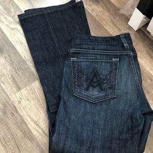 7 For All Man Kind A pocket straight leg jeans.